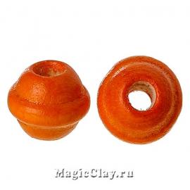 Бусины деревянные Бужумбура 7мм, цвет оранжевый, 1 уп.