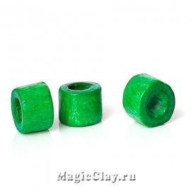 Бусины деревянные Замбия 4мм, цвет зеленый, 1 уп.