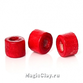 Бусины деревянные Замбия 4мм, цвет красный, 1 уп.