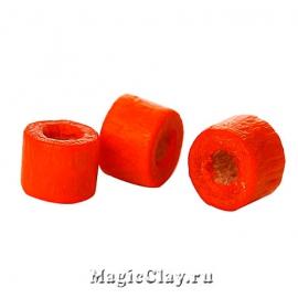 Бусины деревянные Замбия 4мм, цвет оранжевый, 1 уп.