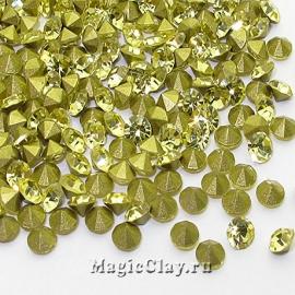 Стразы конусные для бижутерии SS12, цвет Светлый Желтый