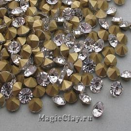 Стразы конусные для бижутерии SS20, цвет Прозрачный