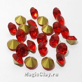 Стразы конусные для бижутерии SS22, цвет Красный