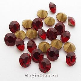 Стразы конусные для бижутерии SS22, цвет Рубиновый