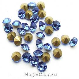 Стразы конусные для бижутерии SS22, цвет Голубой