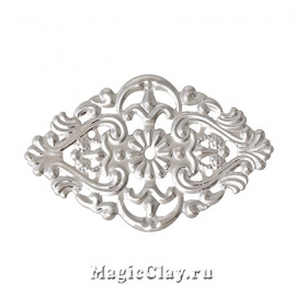 Филигрань Венеция 55х32мм, цвет серебро, 1шт