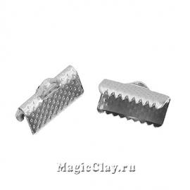 Зажимы для лент 13х8мм, цвет серебро стальное, 20шт