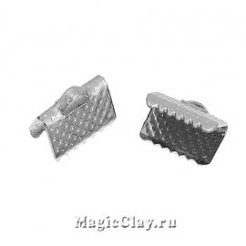 Зажимы для лент 10х7мм, цвет серебро стальное, 20шт