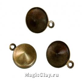 Основа для Риволи 18мм, цвет античная бронза