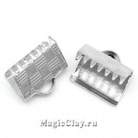 Зажимы для лент 10х8мм, цвет серебро стальное, 20шт