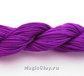 Шнур нейлоновый для Шамбалы 1мм Пурпурный, 1 моток