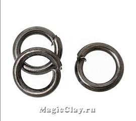 Колечки разъемные, цвет черная сталь 3х0,6мм, 1уп (~500шт)