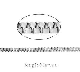 Цепочка Фантазия, звенья 3мм, цвет серебро стальное