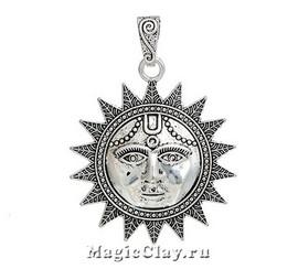Подвеска Солнце, цвет серебро