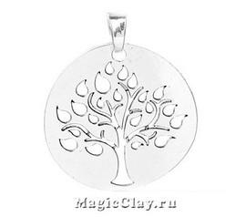 Подвеска Дерево Жизни, цвет серебро