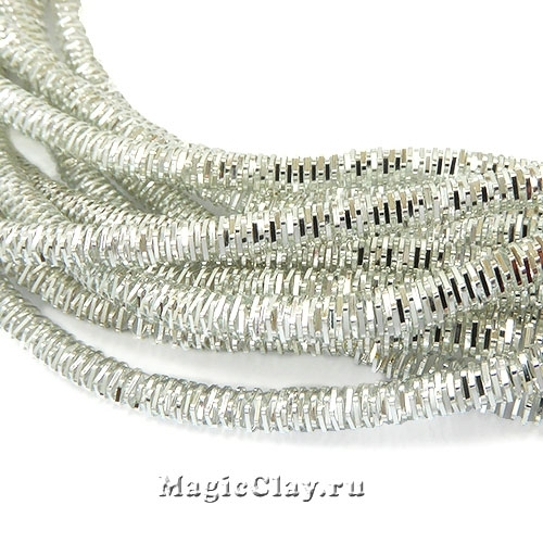 Трунцал 4-гранный 3мм Серебро, 4,5 гр (~40см)