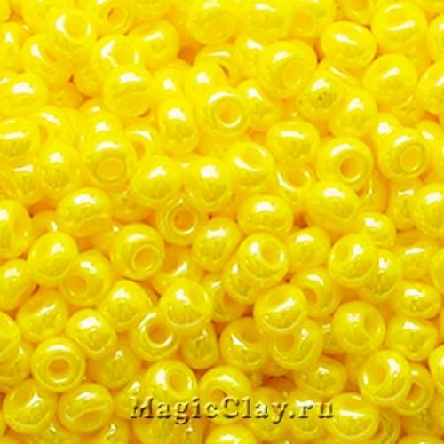 Бисер чешский 10/0 Непрозрачный, 88110 Lemon Yellow, 50гр