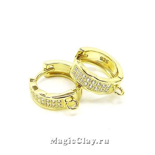 Швензы Кольцо Бриз 13х4,5мм, цвет золото, 1пара