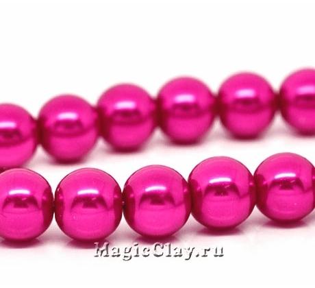 Бусины перламутр Розовый бутон 10мм, 1нить (~40шт)
