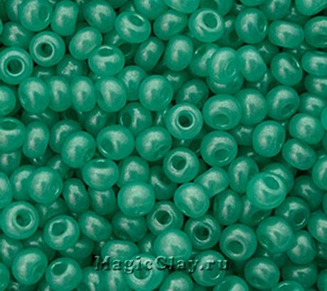 Бисер чешский 10/0 Алебастр, 17958 Green, 41гр
