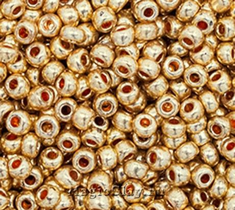 Бисер чешский 10/0 Металлик, 18583 Gold, 50гр