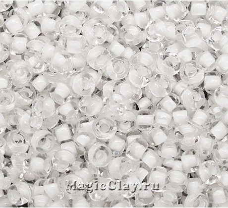 Бисер чешский 10/0 Кристалл, 38302 White, 50гр