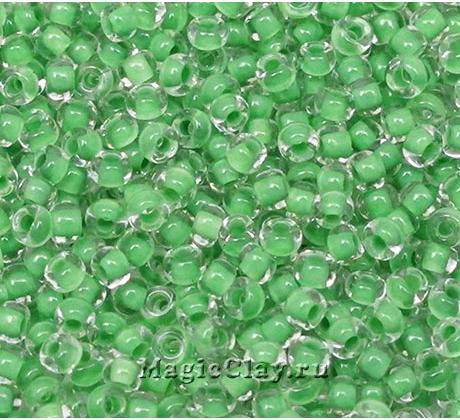 Бисер чешский 10/0 Кристалл, 38357 Green, 50гр
