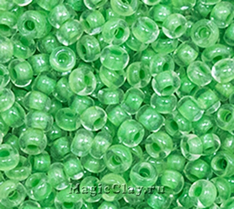 Бисер чешский 10/0 Кристалл, 38657 Light Green, 50гр
