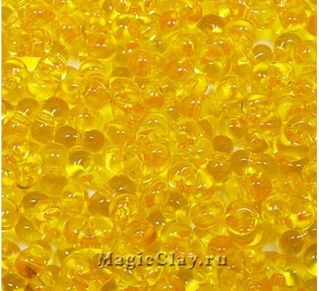 Бисер чешский Farfalle 6.5х3.2 Прозрачный, 80010 Yellow