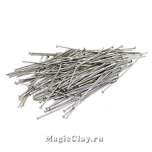 Пины гвоздики 40х0,7мм, сталь, 12гр (~95шт)
