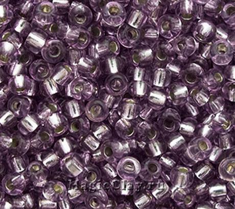 Бисер чешский 10/0 Кристалл, 78122 Smoky Lilac, 41гр
