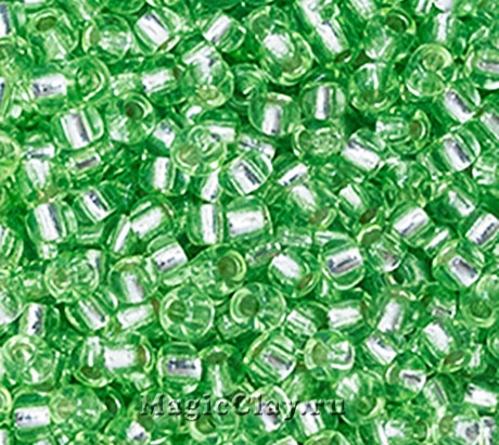 Бисер чешский 10/0 Кристалл, 78154 Light Green, 50гр