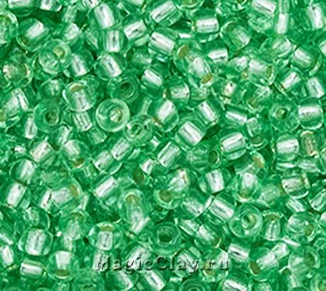 Бисер чешский 10/0 Кристалл, 78161 Green, 50гр