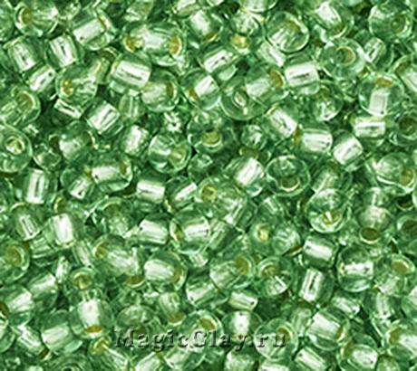 Бисер чешский 10/0 Кристалл, 78163 Green, 50гр