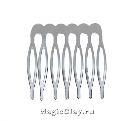 Основа для гребня Декор 39х37мм, цвет серебро, 1шт