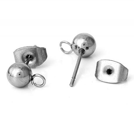 Швензы гвоздики Шар 4х12мм, сталь, 1пара