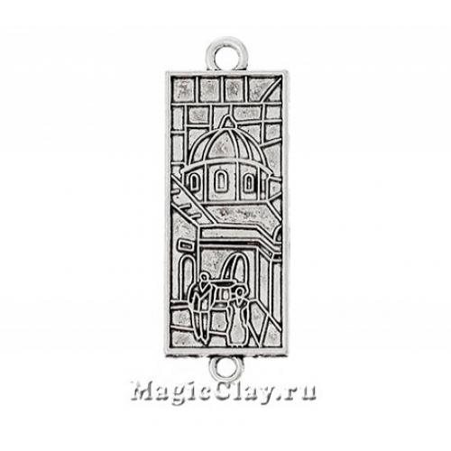 Коннектор Витраж Город Два 50х18мм, цвет серебро, 1шт