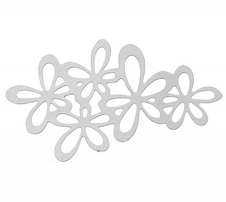 Филигрань Цветы 34х20мм, сталь, 1шт