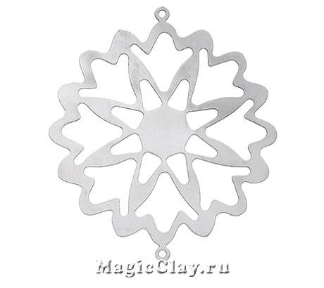 Филигрань Звезда 40х35мм, сталь, 1шт