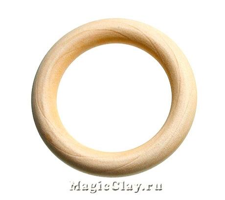Бусины можжевеловые Кольцо, 64мм, 1шт