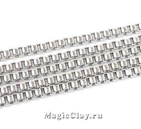 Цепочка Квадратные звенья 2х2мм, сталь, 1м