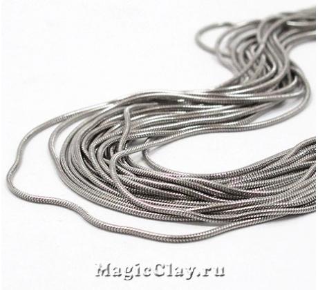 Цепочка Змейка 0,9мм, сталь, 1м