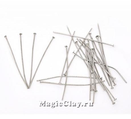 Пины гвоздики 40х0,8мм, сталь, 15гр (~90шт)