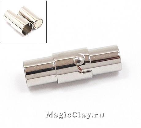 Замок Магнитный для шнуров, застёжка, 18x6,5мм, сталь, 1шт