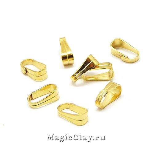 Бейлы Классика 6х3мм, сталь, цвет золото, 10шт