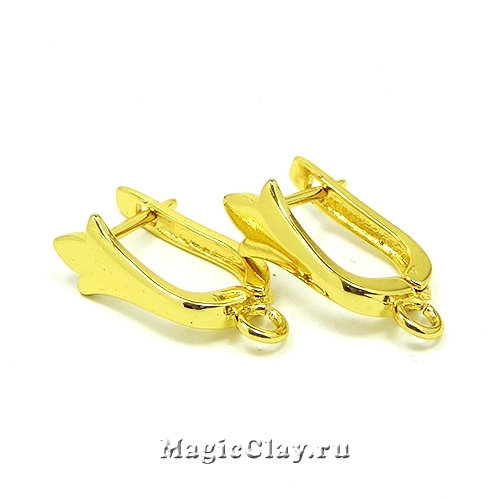 Швензы Флер Де Лис 19х11мм, цвет золото, 1пара
