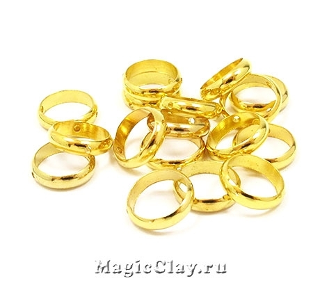 Рамка для бусин Кольцо 12х3мм, цвет золото, 1шт