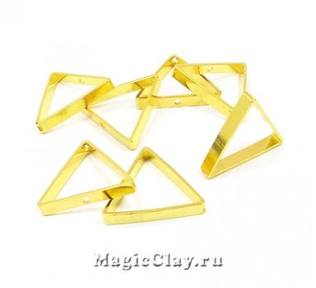 Рамка для бусин Треугольник 17х15мм, цвет золото, 1шт
