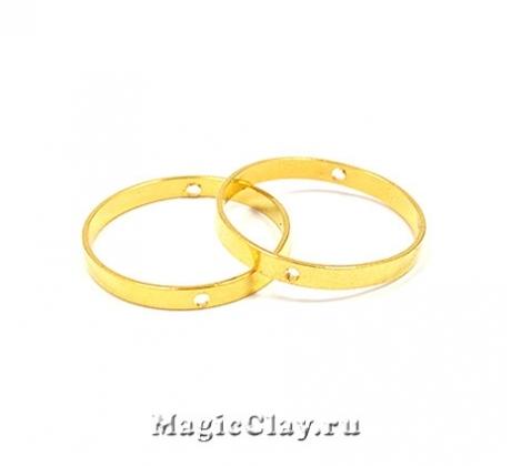 Рамка для бусин Круг 20х2мм, цвет золото, 1шт