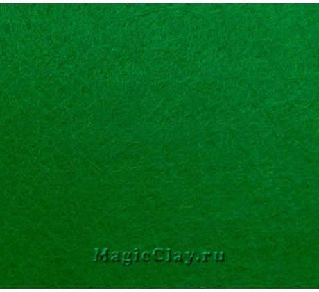 Фетр жёсткий Корея 1,2мм, 26*33см, цвет Зеленый